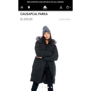 Moose knuckles long parka black